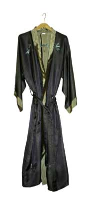 Grey Green and Light Olive Ladies Dressing Gown