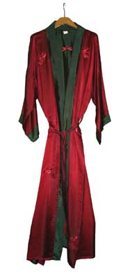 Red and Green Mens Dressing Gown